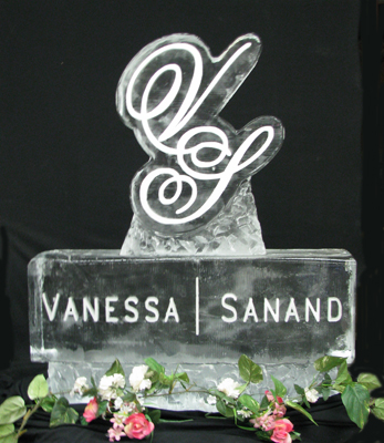 Monogram Ice Sculpture Package - Sculpted Ice Works